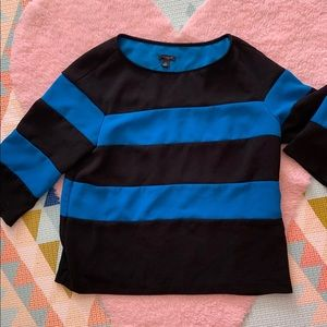 Black and navy striped top